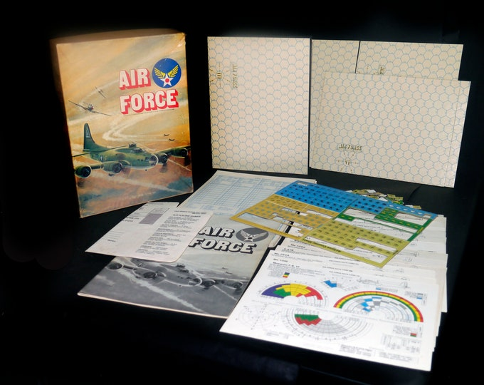Vintage (1980) Air Force Game of Plane-to-Plane Combat in Europe during WWII. Avalon Hill. Made in USA. Complete.