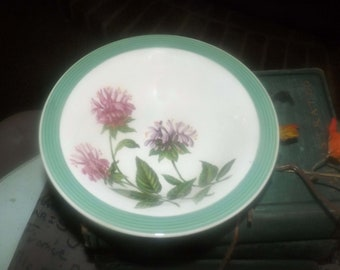 Mid-century Wood & Sons Ringwood Ware Ringwood fruit nappie, dessert, sauce, berry bowl made in England. Sold individually.