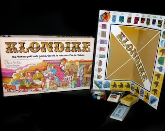 Vintage (1974) Klondike board game published by Gamma Two Games approved by Pierre Berton. Almost complete. Made in Canada.