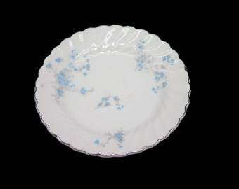 Mid-century Johnson Brothers Cherise bread, dessert, side plate. Snowhite Regency ironstone made in England. Blue Roses. Sold individually.