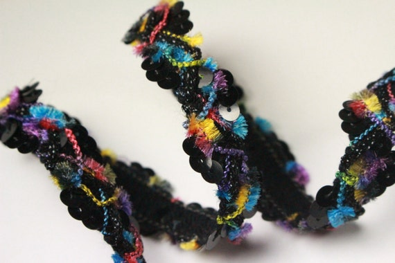 5yds,color choice Hand dyed medium Chenille trim