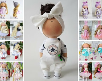 Used, Skateboard Doll Tilda Doll Handmade Doll Muñecas White Doll Soft Doll Bonita Nursery Doll Textile Doll Poupée Fabric Doll Bambole by Tanya E for sale  Delivered anywhere in Canada