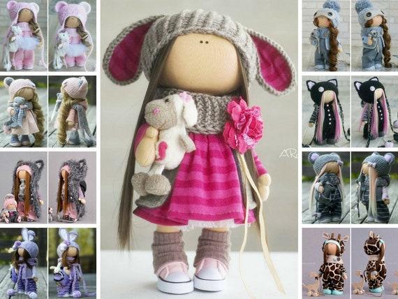 Decorative Cloth Tilda Doll 11 Inch Home Decor Handmade Soft Toy Collectible Dolls