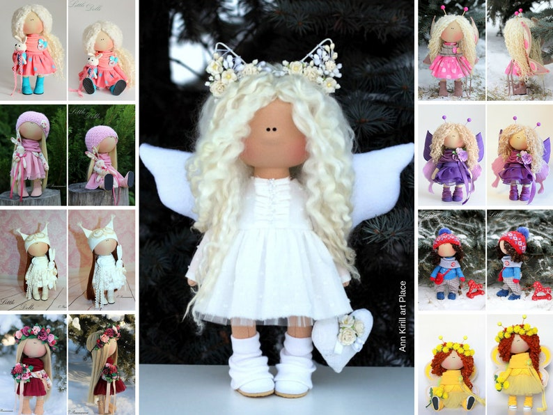 Rag Angels Cloth Dolls Soft Doll Tilda Doll Textile Doll Girls Room Decor Dolls