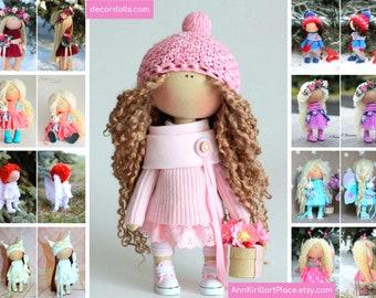 Textile doll Handmade doll Fabric doll Tilda doll Rose doll Soft doll Cloth doll Collectable doll Rag doll Interior doll by Master Olga P