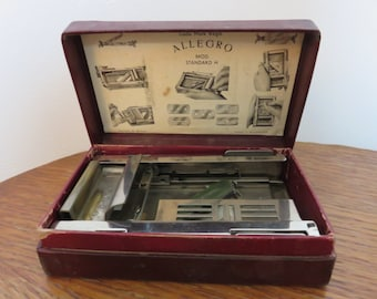 old device to sharpen razor blades ALLEGRO model H SWITZERLAND 1930 1940 30's 40's device sharpening razor blade