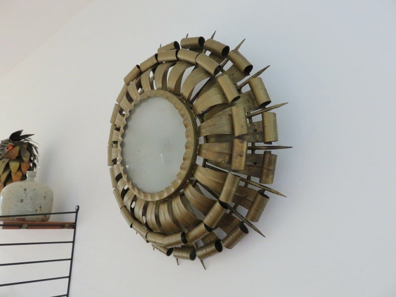 Very large applique sun art deco brass  s etsy