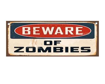 NEW Danger Zombie Area Enter At Your Own Risk Fridge Magnet