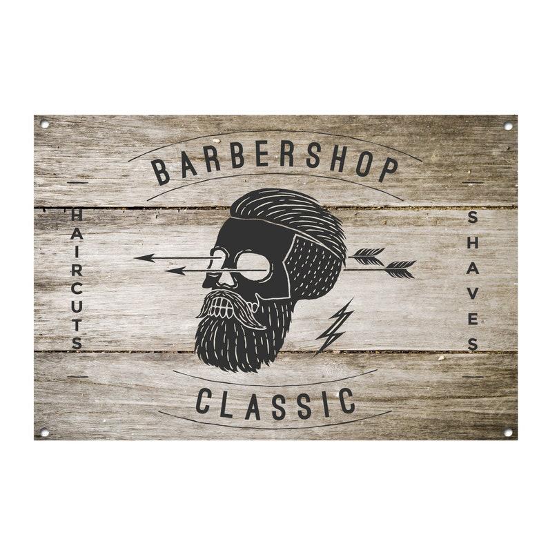 Barber Shop Metal Sign Barber Shop Décor Sign Wall Art Plaques Barber Shop 1016