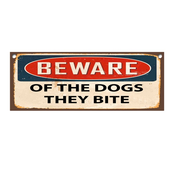 Beware Of The Dog Metal Sign//Fridge Magnet Wall Sign 1242