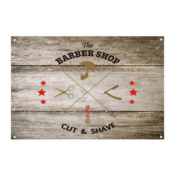 Barber Shop Metal Sign Barber Shop Décor Sign Wall Art Plaques Barber Shop 1059