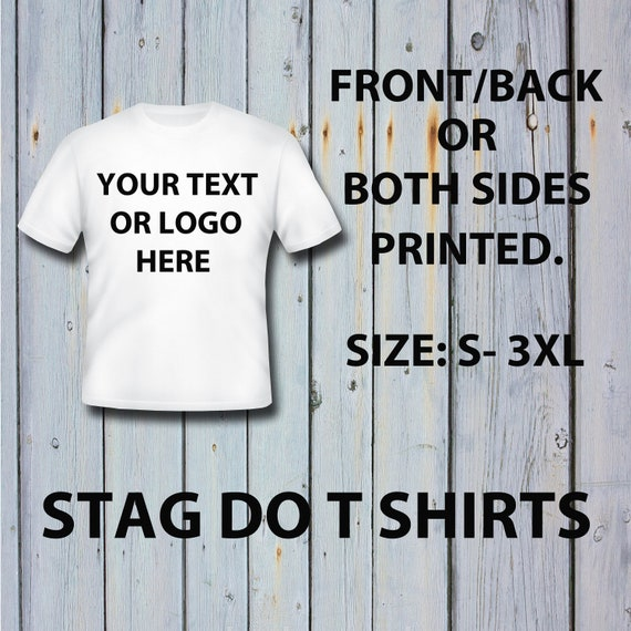 Men/'s Personalised Stag Do Night Out Lads Holiday Party T-Shirt Wedding
