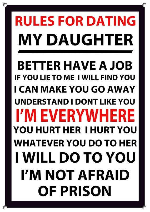 règles dans la datation de ma fille