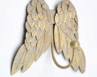 Exceptionnel Golden Gold Pretty Angel Wings Cherubs Wing Coat Hook Hooks Wall Mounted  Door Hook Hanger For Hat Coat Clothes Kitchen Bathroom Bedroom Offi