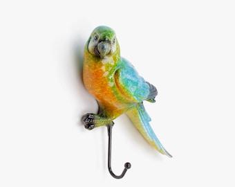 Bright Multi-Coloured Retro Parrot / Bird Coat Hook Hooks Wall Mounted Door Hook Hanger for Hat Coat Clothes Kitchen Bathroom Bedroom office