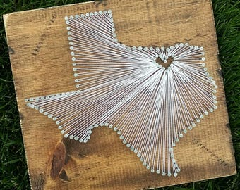 Texas String Art Decor State Nail Gift Rustic Custom Sign Love Home 11x13