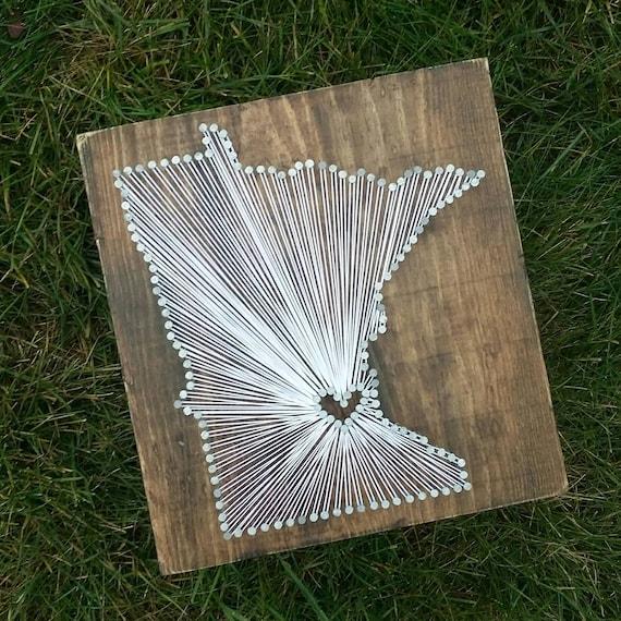 Minnesota String Art Minnesota Decor State string Art | Etsy