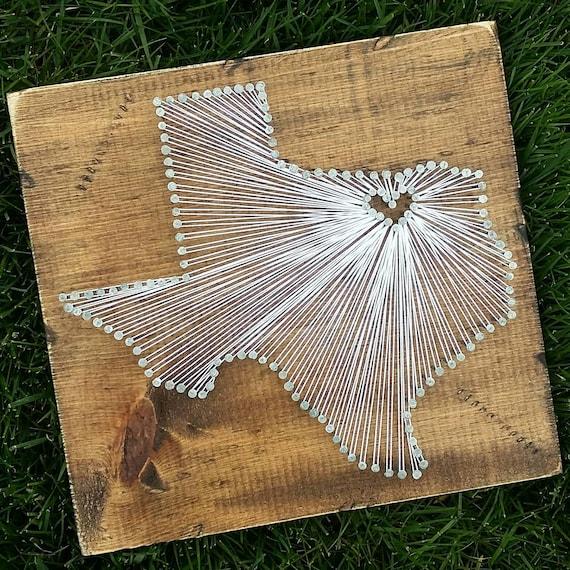 Texas String Art Texas Decor State String Art Texas Nail Etsy