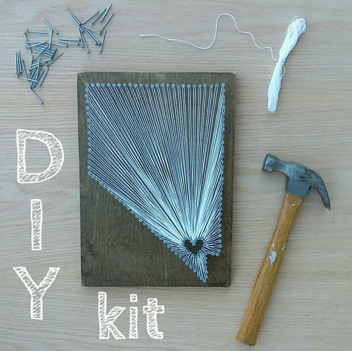 DIY Nevada String Art Kit State string Art Kit Nevada Nail | Etsy