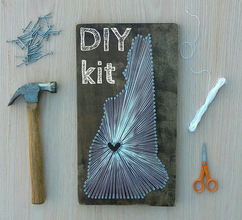DIY New Hampshire String Art Kit State string Art Kit New | Etsy