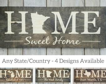 Minnesota Sign, Home Sweet Home, Minnesota Decor, Minnesota, Minnesota Love, Minnesota Home Decor, Rustic Decor, Home Decor, State Art, 9x24