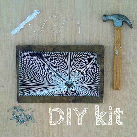 DIY Kansas String Art Kit State string Art Kit Kansas Nail | Etsy