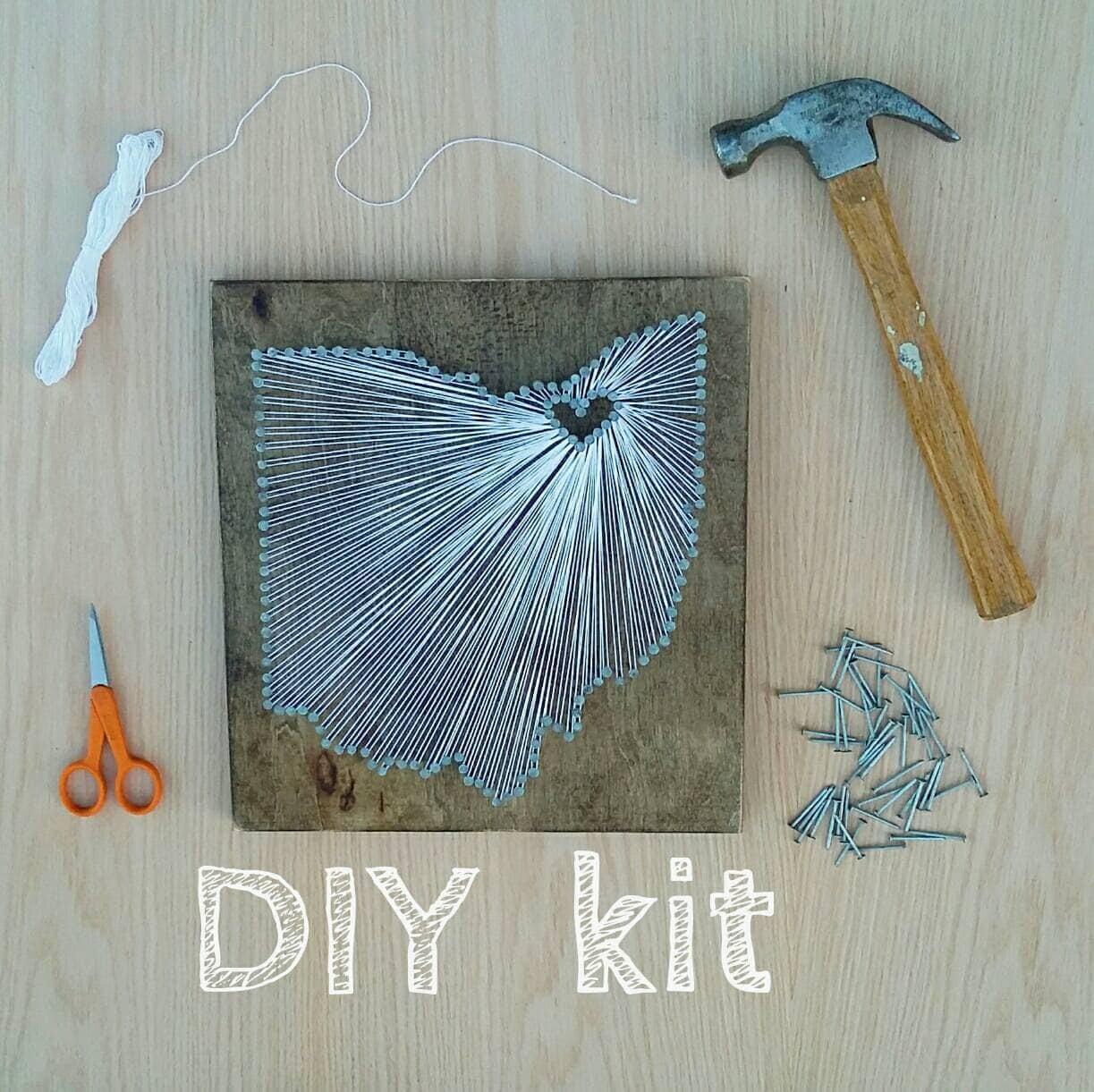 DIY Ohio String Art Kit State string Art Kit Ohio Nail Art | Etsy