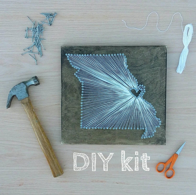 DIY Missouri String Art Kit State string Art Kit Missouri | Etsy
