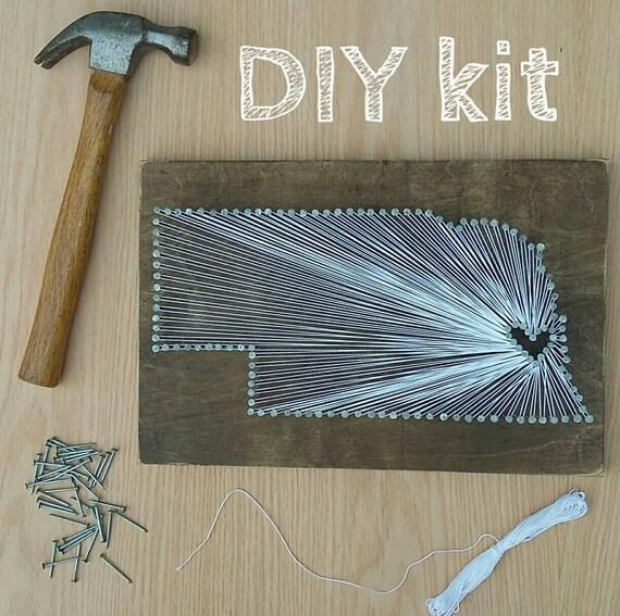DIY Nebraska String Art Kit State string Art Kit Nebraska | Etsy