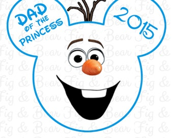 Olaf Frozen Personalized T Shirt Iron On Transfer