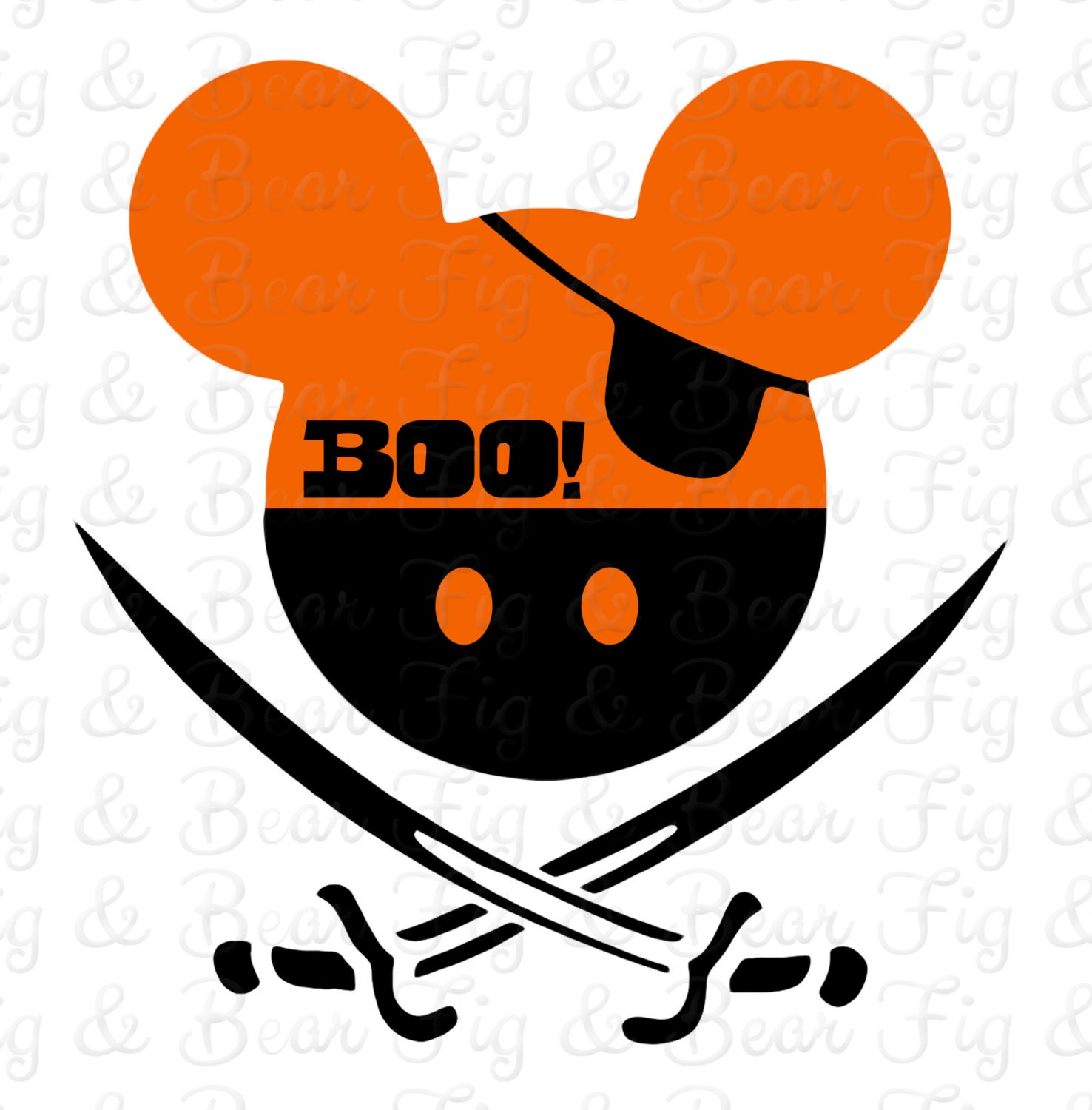 Disney Mickey Mouse Pirate Halloween T Shirt Iron On Transfer Etsy