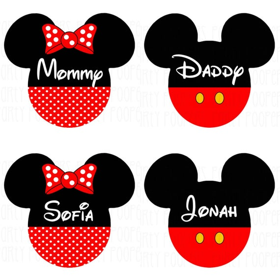 Disney Family Shirts Mickey Mouse Minnie Mouse Iron On Etsy