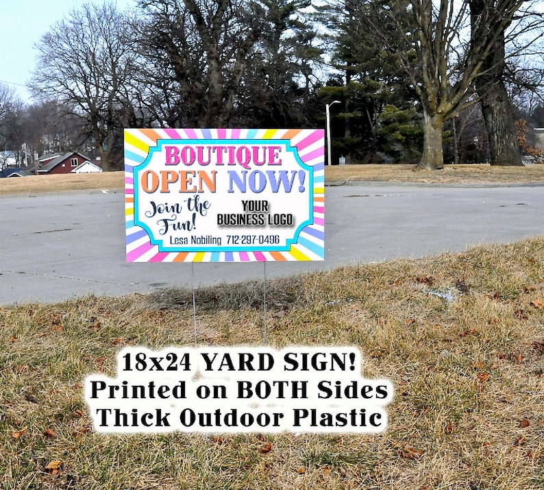 Llr Yard Sign Large OutsideEtsy Boutique Business drBxoCe