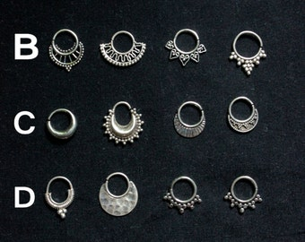 SALES 2018 !!!COLLECTION Silver SEPTUM (1.6mm)