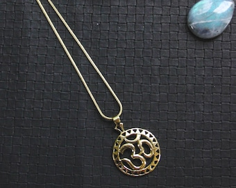Bronze Ohm Chain - Ethnic - Boho - India - Travel - Gypsy - Hindu - Asia