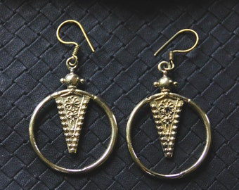 Bronze Tuareg Inspiration Earrings - Light Weight - Traditional - Heritage - North Africa - Tribal Fusion - Boho - Gypsy - Ethnic - Ritual