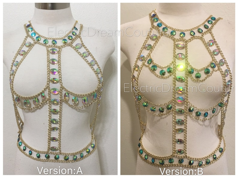 6547c1dac70b8c Body Chain Body Jewelry Chain Top Chain Bra rheinestone