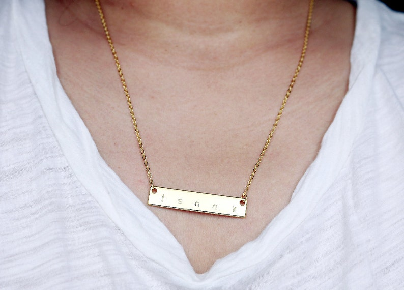 Engraved Necklaces Roman Numeral Date Necklace