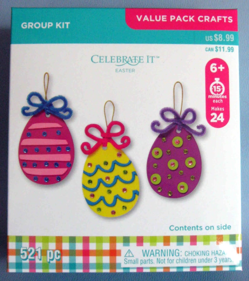 Easter Eggs With Bows Craft Kit For Kids 6 Make 24 Eggs Etsy