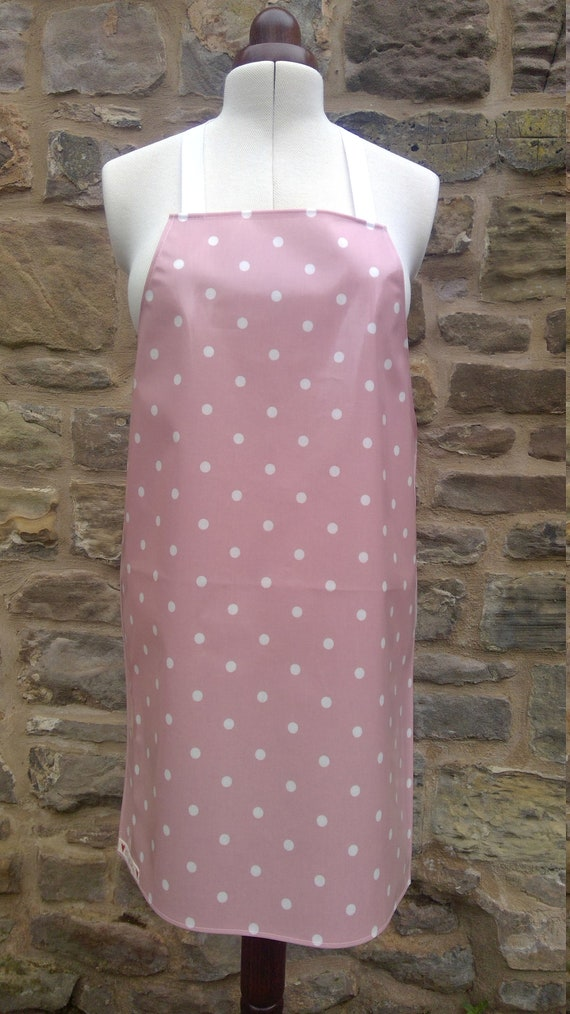 Baking Gift Cookery PVC Apron Kitchen Gift Oilcloth Aprons Traditional Aprons Adult Spotty Aprons Retro Aprons Wipe Clean Aprons