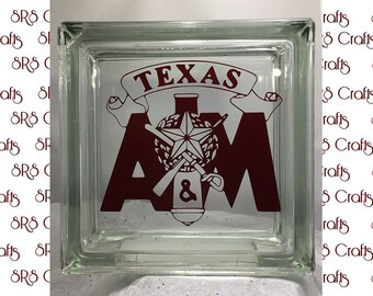 Aggie - Texas A&M  or Corps glass block