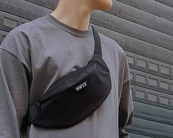 Minimalist Bum Bag Black