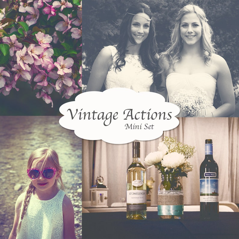 Photoshop actions, Matte actions, Vintage actions, Wedding photography,  Family Photography, CS5, CS6, CC,