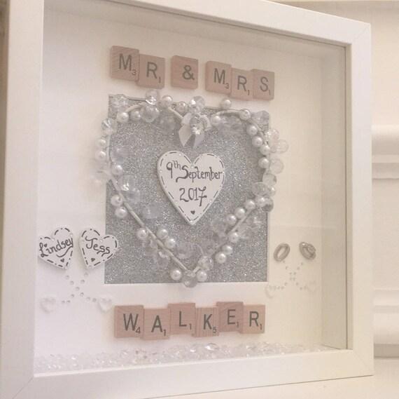 Personalised Wedding Gift Frame Mr And Mrs Frame Wedding Etsy