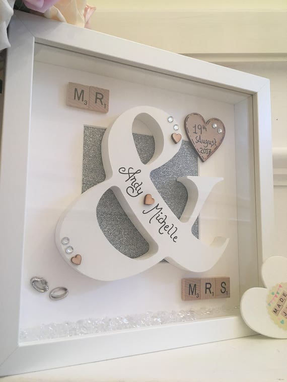 Personalised Wedding Gift Frame Mr And Mrs Frame Wedding Etsy