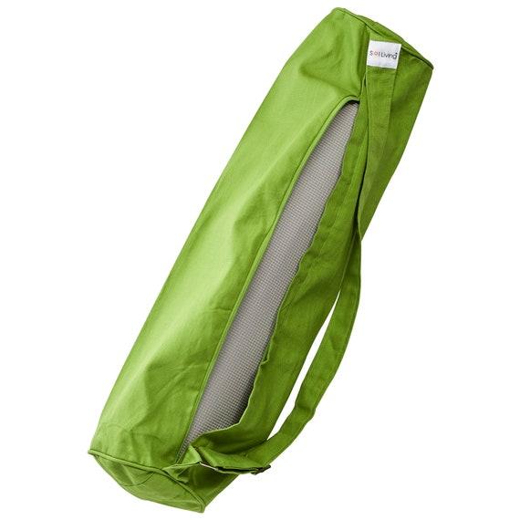 Cotton Sling Bag Envelor Home and Garden Cotton Yoga Mat w//Zipper and Drawstring Cotton Sling Options Sol Living Lightweight Cotton Yoga Mat Carrier Eco-Friendly Bag for Yoga Mat