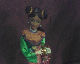 "Vintage Geisha Girl Doll 13"" Tall"