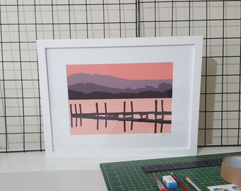 Framed print of 'Mountain Views' by Maxine Walter