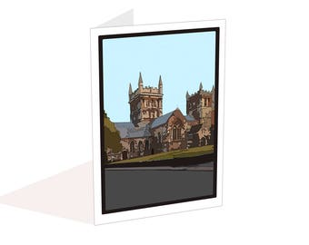 Wimborne Minster blank card, Write your own message, Holiday souvenir, Notecard with envelope, Anniversary, Birthday card, Thank you card,