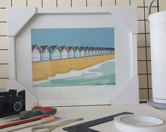 Framed print of 'Beside the seaside' by Maxine Walter